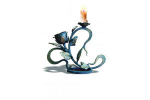 Подсвечник с розой на 1 свечу
